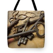 Old Keys Tote Bag