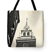 Old North Church In Boston Tote Bag by Elena Elisseeva