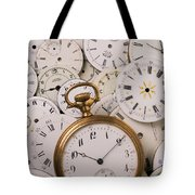 Old Pocket Watch On Dail Faces Tote Bag