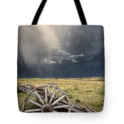 Old Prairie Wheel Cart Saskatchewan Tote Bag