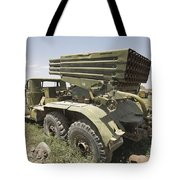 Old Russian Bm-21 Launch Vehicle Tote Bag