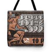 old Russian postage stamp Tote Bag