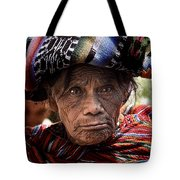 Old Woman Of Chichicastenango Tote Bag