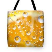 Orange Water Drops Tote Bag