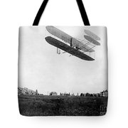 Orville Wright In Wright Flyer, 1908 Tote Bag