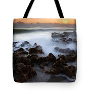 Overwhelmed By The Sea Tote Bag