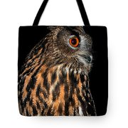 Side Portrait Of An Eagle Owl Tote Bag