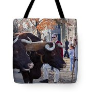 Oxen And Handler Tote Bag