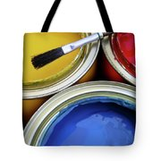 Paint Cans Tote Bag by Carlos Caetano