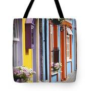 Painted Buildings On Main Street In Tote Bag