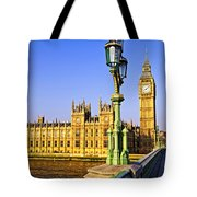 Palace Of Westminster From Bridge Tote Bag