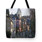 Parisian Street Scene Tote Bag