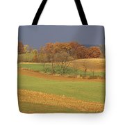 Pastoral View Of Rolling Fields Tote Bag