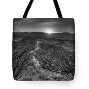 Path To The Sun   Black And White Tote Bag