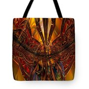 Peacock Feather Microscope View Fx  Tote Bag