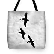 Pelicans On The Wing Tote Bag