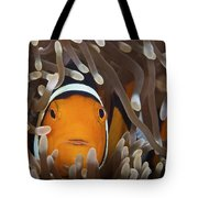 Percula Clownfish In Its Host Anemone Tote Bag