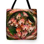 Pink African Daisies Tote Bag