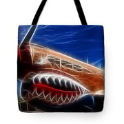 Plane Flying Tigers Tote Bag