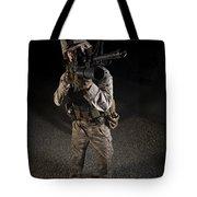 Portrait Of A U.s. Marine In Northern Tote Bag