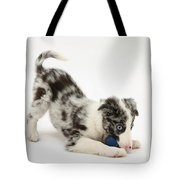 Puppy Playing With A Ball Tote Bag