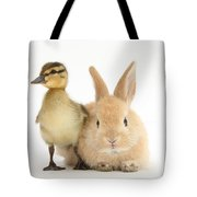 Rabbit And Duckling Tote Bag