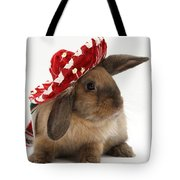 Rabbit Wearing A Hat Tote Bag