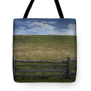 Rail Fence And Field Along The Blue Ridge Parkway Tote Bag