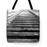Railroad Tracks Tote Bag by Michael Ringwalt
