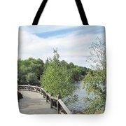 Ramsey Lake Boardwalk Tote Bag