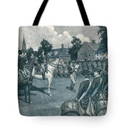 Reading The Declaration Of Independence Tote Bag