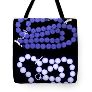 Real And Imitation Pearl Necklaces Tote Bag
