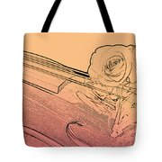 Red Rose Violin Viola Tote Bag