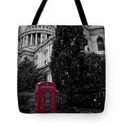 Red Telephone Box Tote Bag