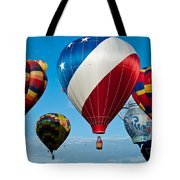 Red White And Balloons Tote Bag