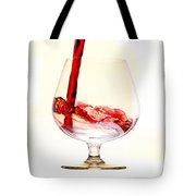 Red Wine Tote Bag by Michal Boubin
