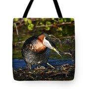 Rednecked Grebe Tote Bag