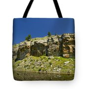 Reflecting Cliffs Tote Bag
