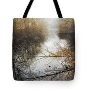 River In The Fog Tote Bag