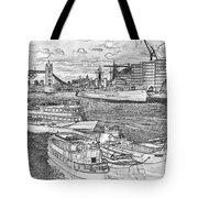 River Thames Art Tote Bag
