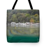River With Trees Tote Bag