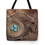 Robins Nest With Eggs Tote Bag