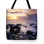 Rocks On The Beach, Giants Causeway Tote Bag