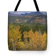 Rocky Mountain Autumn View Tote Bag
