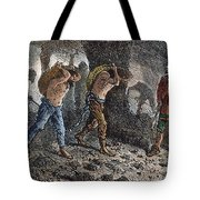 Roman Slavery: Coal Mine Tote Bag