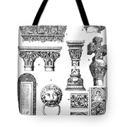Romanesque Ornament Tote Bag