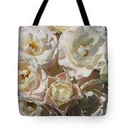 Romantic White Roses Tote Bag