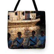 Rowers At Sunset Tote Bag