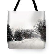 Rural Road In Winter Tote Bag