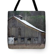 Rustic Weathered Mountainside Cupola Barn Tote Bag